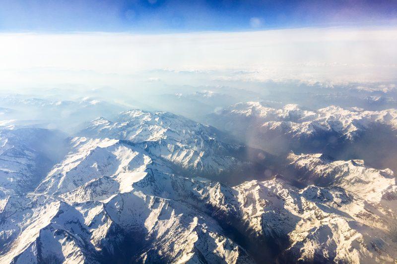 Alpy widziane z samolotu