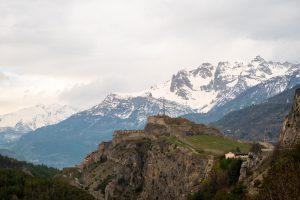 Zamek u wjazdu do Briançon, Francja