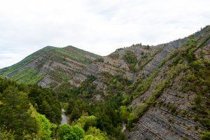 Jedne z dziwniejszych formacji skalnych jakie widziałem. Jakby ktoś odciął kawałek góry