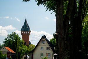 Wieża kościoła w Bystrej