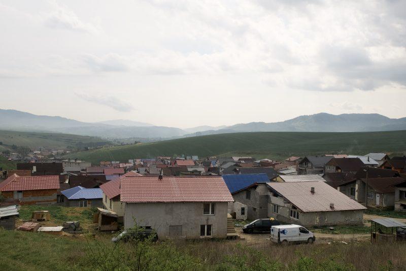 Jedno z Romskich osiedli na wschodniej Słowacji